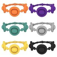 Charm Bracelets Silicone Push Bubble Sensory Toys Decompression Toy Puzzles Anti-stress Wristband Endlessly Reusable Washable Drop