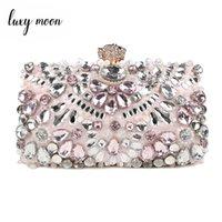 Luxy Mond Frauen Abend Strass Clutch Geldbörse Damen Handtaschen Hochzeit Handtaschen Brieftasche Party Bag ZD848 Q1106