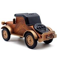 Portable Speakers Classic Car Bluetooth Speaker Retro Wood Grain Radio Mobile Phone Stand Mini