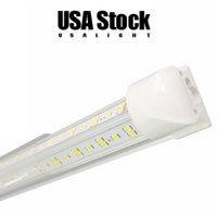 USALIGHT AC85-265V 25PCS 4Ft 5Ft 6Ft 8Ft LED Tube Lights V Shape Integrated T8 Tubes 4 5 6 8 ft Cooler Door Freezer Lighting 36W 72W 100W 144W