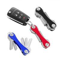 Storage Bags DIY Pocket Key Wallet Smart Keychain Ring Wallets Portable Compact Aluminum Clip Multi-functional DropShip