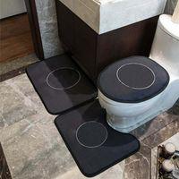 패션 인쇄 화장실 시트 커버 욕실 화장실 U 모양 매트 3pcs 세트 편안한 비 슬립 홈 도어 랏 카펫