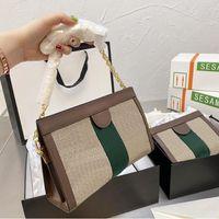 지갑 ophidia 체인 어깨 크로스 바디 가방 Luxurys 디자이너 핸드백 지갑 여성 패션 쇼핑백