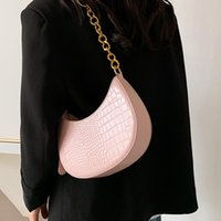 Evening Bags 2021 Stone Pattern Small PU Leather Saddle Crossbody Summer Chain Shoulder Handbags And Purses