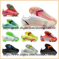 선물 가방 망 높은 탑스 축구 부츠 CR7 Mercurial Vapores 14 잠자리 엘리트 FG 클리트 야외 슈퍼 플라이 XIV Neymar Acc 축구 신발