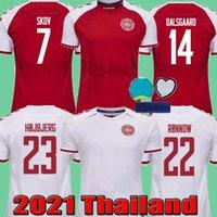 2021 الدنمارك Soccer Jersey 2022 Schmeichel Kjaer Christensen Skov Delaney Braithwaite DBU HOME ABAY ERIKSEN DALSGAARD LASSL SIDGER Yurary 21 22