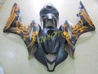 HONDA CBR600RR F5 2007-2008 FAIRINGS KITS BLACK Customize Injection abs fairing kit CBR600 RR 07-08 2007 2008 bodykits #U29W7 bodywork