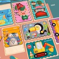 جديد وصول خشبية لغز 3D ألعاب تعليمية مبكرة ألعاب خشبية للأطفال فهم الكرتون الاستخبارات اللغز