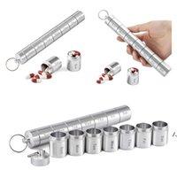 Nueva venta caliente a prueba de agua a prueba de agua a prueba de agua de 7 días de aleación de aluminio dividido caja de píldoras de metal de metal de almacenamiento de metales Contenedor de embalaje AHD6055