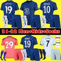Chelsea Homens Kit Kit 2020 2021 Pulisic Ziyech Havertz Kante Werner Abraham Chilwell Monte Jorginho Jersey 20 21 Giroud T.Silva Camisa de Futebol