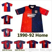 1990 1992 2003 2004 2005 Cagliari Calcio Soccer Jerseys 03 04 Retro Suazo Zola Conti Gobbi Godin Joao Pedro Marin Simeone Sottil
