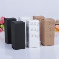 10 size Black white Kraft cardboard box Lipstick Cosmetic Perfume Bottle Paper Essential Oil Packaging Box LZ1416