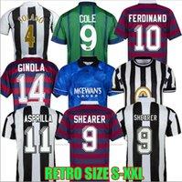 Newcastl E Retro Futebol Jerseys 1984 1986 1988 1994 1995 96 97 98 99 2005 2006 Magpias Batty Asprilla Barnes Shearer Bellamy Owen Camisa de Futebol Clássico Top