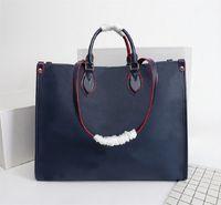 Luxurys Designer Taschen Handtasche 4 Farben Hina Tote Womens Messenger Umhängetasche Monog Lady Leathtertotes Geldbörse Crossbody 44571 Shopping Carrier