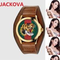 Fashion Famous brand watches women men bee snake tiger pattern nylon fabric leather belt sports classic Quartz Movement Couple Lovers Clock Wristwatch
