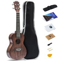 Tenor ukulele top sólido mogno 26 polegadas com acessórios ukulele com saco de gig