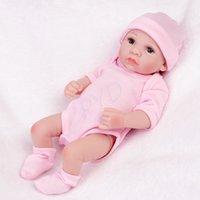Wasserdicht Nette Reborn Puppen Realistische Mädchen Ganzkörper Vinyl Silikon Neugeborenen Preemie Kids Geschenke