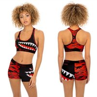 Women Ethika Designer tracksuits Swimsuit 2 Piece Bikini Set Vest Tank Top Bra And Shorts Swimming Suit Luxury Shark Swimwear Brand Beachwea
