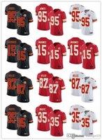 "Mens Womens Youth Kansas ""City""Chiefs ""15 Patrick Mahomes 87 Travis Kelce 95 Chris Jones 35 Christian Okoye Football Jersey"