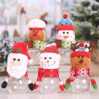 Kunststoff süßigkeiten jar weihnachten thema kleine geschenk taschen weihnachten süßigkeiten box handwerk home party dekorationen großhandel