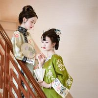 Ethnic Clothing 2021 Casual Chinese Printed Qipao Dress Oriental Styled Style Modern Cheongsam Elegant Party