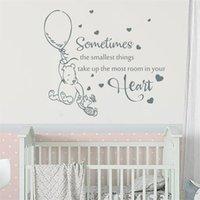 Decal mural Parfois, les plus petites choses citations Vinyle autocollant pépinière enfants chambre bébé chambre décor s851 210705