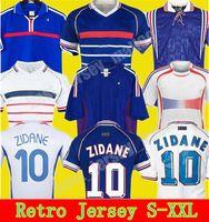 1982 1996 1996 خمر Zidane Soccer Jerseys Trezeguet Convers France Retro 84 86 2000 2002 2004 2006 2010 Henry Mailleot Football Jersey Shirt