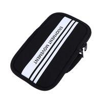 1PC 스포츠 아마 밴드 휴대 전화 가방 방수 옥외 실행 조깅 (6 인치 미만의 블랙) 셀 케이스