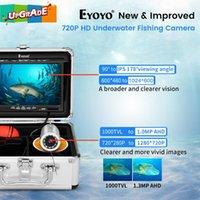 """Eyoyo 7 """"30m Unterwasser-Fischereikamera, Eiskamera-Fischfinder aufgehoben 720p 12 IR-Lichter 1024x600 IPS-Bildschirm"""