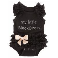 العلامة التجارية الطفل فتاة الصيف الملابس الجسم للأطفال رومبير الطفل فتاة السروال القصير للأطفال الوليدات طباعة الرقمية بلدي اللباس الأسود الصغير 1171 x2