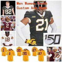 NCAA College Jerseys Minnesota Golden Gofers 25 Preston Jelen 28 Jason Williamson 3 Cam Wiley 4 Shannon Brooks Futebol Personalizado Costurado