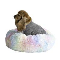 بيوتس أقلام الحيوانات الأليفة كلب سرير أريكة جولة القطيفة حصيرة للكلاب كبير labradors القط المنزل dcpet إسقاط مركز 2021 بيع المنتج