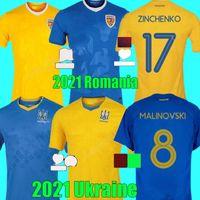 2021 2022 رومانيا أوكرانيا Soccer Jersey Team National Team Away 21 22 Vitaliy Mykolenko Oleksandr Zinchenko Ruslan Malinovskyi فيكتور Tsygankov Football Shirts