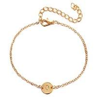 Charm Bracelets Initial Letter Bracelet Gold Metal Name Bangle Women Jewelry Bridesmaid Gift