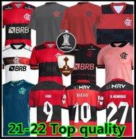 21 22 Flamengo Soccer Jersey 2021 2022 Flamand Guerrero Diego Vinicius JR Jerseys Gabi Flamengo Gabriel B Sports Football Man Shirt femme