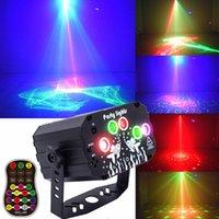 Lazer Disko Aydınlatma Işık Parti DJ Uzaktan Kumanda Sahne Işıkları Ile Taşınabilir Ses Aktif Topu LED Projektör Lambası Kapalı Açık Noel Doğum Günü Lambaları