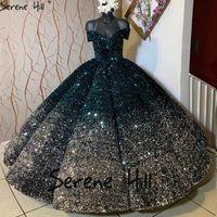 Другие свадебные платья Serene Hill Off Flight Contrast Color Green Серебряное платье 2021 Милая Роскошное Свадебное платье на заказ CHA2305