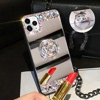 3D Acrylic Sunjolly Mirror Mirror Diamond Funda para iPhone 11 Pro Max XS Max XR 8/7 Plus 6 / 6s Plus SE2020 Casos de teléfono Cubierta Coque Fundas