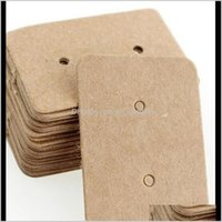 Stand Packaging Drop Delivery 2021 Paper Ear Studs Label Jewelry Display Card Kraft Rec Earring Tag Cards2535Mm B9Gdr