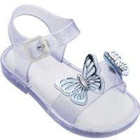 Kinder Sandalen Physische Shootingoe Mädchen Schmetterlingsaustritt Sommer Strand Kinder Mini Melissa Jelly Sho