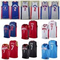 Cade 2 Cunningham 2021 City New Jerseys Jalen 7 Green Jerseys Hakeem 34 Olajuwon Basketball Jerseys Stitched
