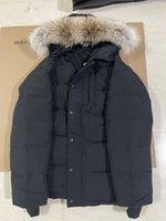 Üst Moda Sonbahar Kış Stil Erkekler Ceketler Erkek Aşağı Palto Rüzgarlık Yüksek Kalite Parkas Klasik Giyim Gerçek Kürk