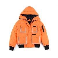 Manteaux de Parkas pour hommes 2021 hibou de plein air réfléchissant à courte longueur courte veste chaude noire orange xs-2xl