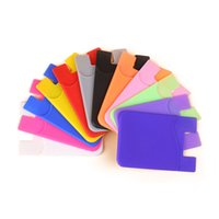3M Double Pocket Elastic Stretch Silicone Silicone Pellical ID Porte-cartes Sticker Universal Portefeuille