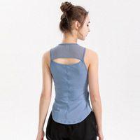 Luyogasports lu yoga الصدرية مع الصدر وسادة t-shirt الربيع لو جيم قمم الملابس في الهواء الطلق اللياقة البدنية الدبابات الرياضية النساء الملابس الداخلية W7HC #