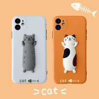 Three-dimensional cat for 11 Pro Max apple X XS XR mobile phone case iPhone7 lovers 8 plus anti-fall