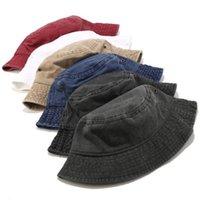 Chapéus de pescadores Mens Lavável placa de luz de algodão puro chapéu de algodão mulheres Four Seasons General Outdo Outdoor Sun Proteção Sunhat Entrega rápida