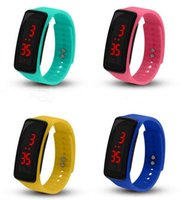 Fashion Sport LED Watches Candy Jelly men women Silicone Rubber Touch Screen Digital Watches Bracelet Wrist watch