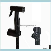 Bidet Faucets Faucets, Showers & Accs Home Garden 304 Stainless Black Handheld Spray Shower Sprayer Set Toilet Shattaf Douche Kit Fauc