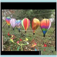 Decorations Patio, Lawn Home & Garden Rainbow Stripe Grid Windsock Air Balloon Wind Spinner Garden Yard Outdoor Decoration In Stock Gcuec Ko